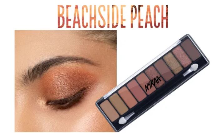 Nykaa Eyes on Me 10 in 1 Eye shadow Palette- Beachside Peach