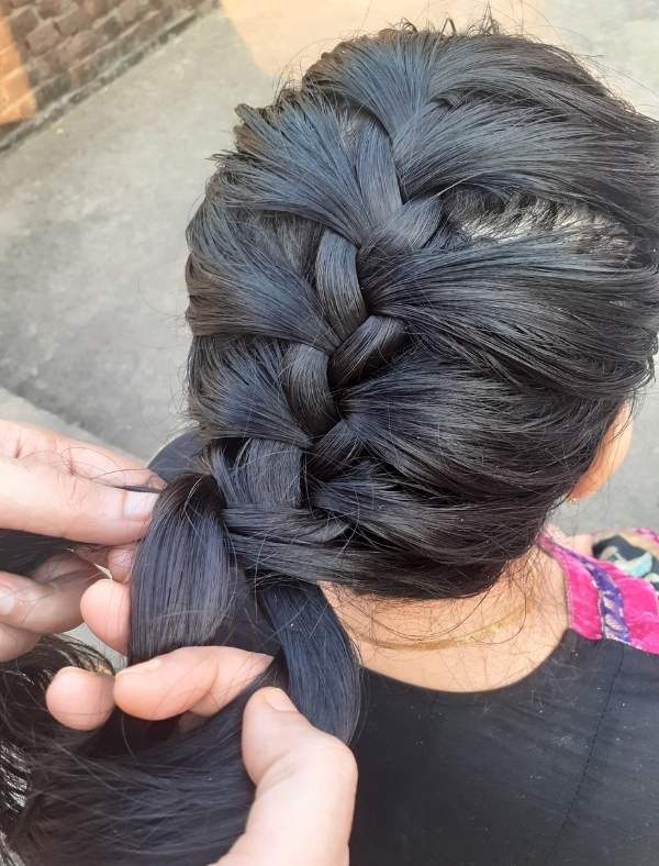 French Braid Hairstyle 9